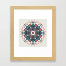 Coral & Teal Tangle Medallion Framed Art Print