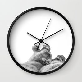 Lion Photography | Animal Art | Love | Black and White Wall Clock