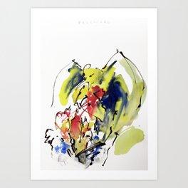 """Fantastic animals """"Pellicano"""" Art Print"""