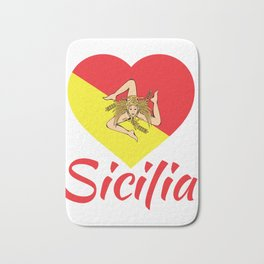 Sicilian Pride - Sicilia - I Love Sicily Trinacria Bath Mat