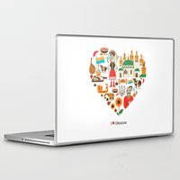 ukraine Laptop & iPad Skins featuring I Love Ukraine by Marina Zlochin