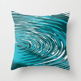 Digital Ripple Throw Pillow