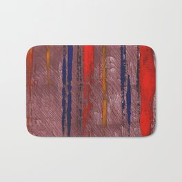 Bright red abstract painting Bath Mat