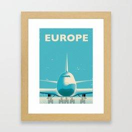 Europe vintage travel poster Framed Art Print
