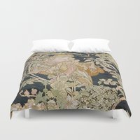 mucha Duvet Covers featuring 1898 - 1900 Femme a Marguerite by Alphonse Mucha by BookCollecting101