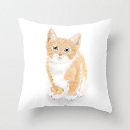 Cute Tiny Cat Throw Pillow