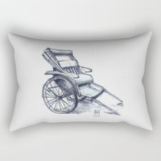 rickshaw japan Rectangular Pillow