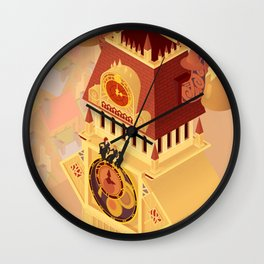 Twilight Tower (Kingdom Hearts) Isometric Art Wall Clock