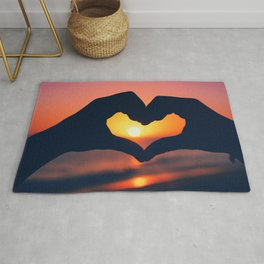 Heart Shaped Hands Rug
