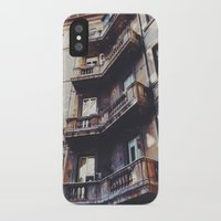 roman iPhone & iPod Cases featuring Roman Balconies by Forgotten Charm