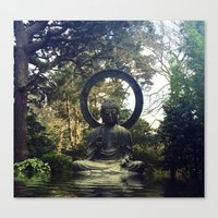buddah Canvas Prints featuring buddah by xtinawicki