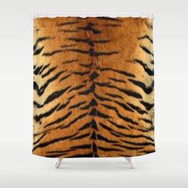 Faux Siberian Tiger Skin Design Shower Curtain