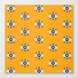 Evil Eye Dots – Marigold Palette Canvas Print