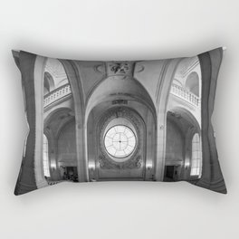 somewhere in the louvre in paris Rectangular Pillow