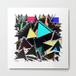 Triangles Metal Print