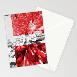 Extruded Flag of Denmark Stationery Cards