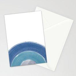 Minimalist Brush Stroke Half Circle Stationery Cards