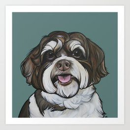 Wallace the Havanese Art Print