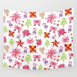 Cute Christmas Pattern Wall Tapestry