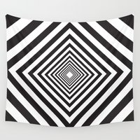 square Wall Tapestries featuring Square by Vadeco