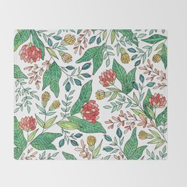 Wildflower Pattern - Full Color Throw Blanket