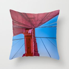 Up The Golden Gate Throw Pillow