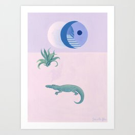 Multi Éclipses Art Print