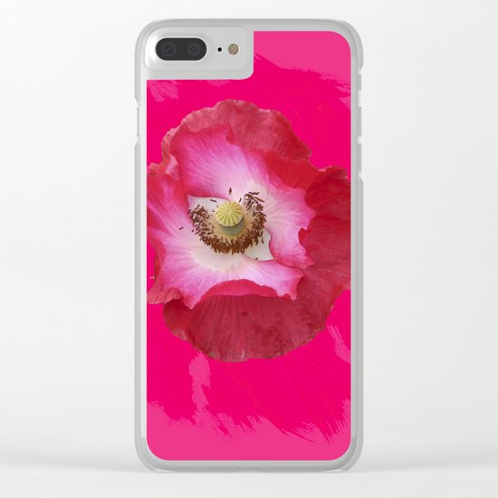 Waltz - hot Pink Clear iPhone Case
