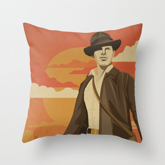 The Archeologist Throw Pillow