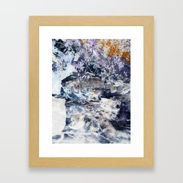 Cinder Leaves Framed Art Print