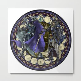 Final Fantasy I Stained Glass Drawing  Metal Print