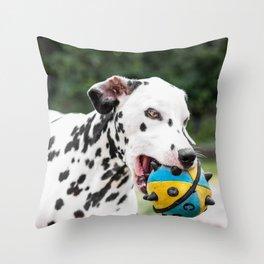 Snowflake playing Throw Pillow