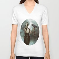 lovers V-neck T-shirts featuring Lovers by Flo Tucci