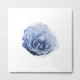 Blue Rose Watercolor Metal Print