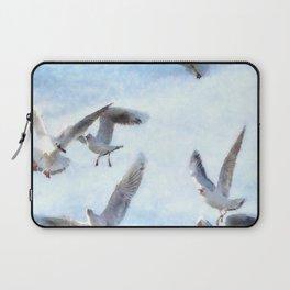 Gulls In Flight Watercolor Laptop Sleeve
