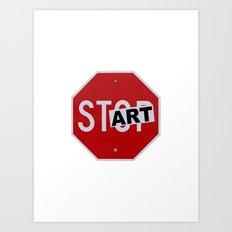 Stop Start Art Art Print