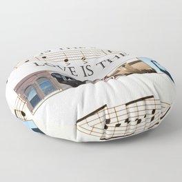 Love of Music Floor Pillow