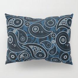Prussian Blue Paisley Pattern Pillow Sham