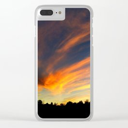 Sunset Over the Clarks Fork River Clear iPhone Case