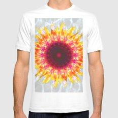 sunflower happiness MEDIUM Mens Fitted Tee White