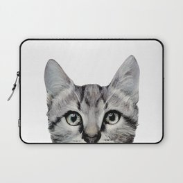 Cat, American Short hair, illustration original painting print Laptop Sleeve