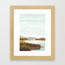 Riverbed Framed Art Print