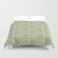 hamster Duvet Covers featuring Hamster Pattern by Noreen Torelli