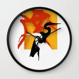 Herons / birds, egrets, pop art,  Wall Clock