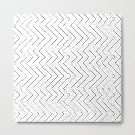 YARA ((black on white)) Metal Print