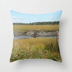 Scarborough Marsh Throw Pillow