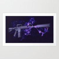 CSGO Elemental Series   M4A1-S SMOKE Art Print