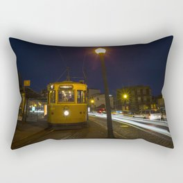 Porto Night Tram Rectangular Pillow