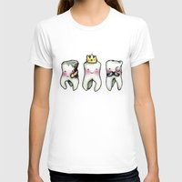 tooth T-shirts featuring Rotten Tooth, Crowned Tooth and Wisdom Tooth by Hungry Designs