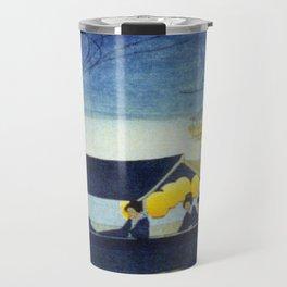Wasen at Night - Vintage Japanese Art Travel Mug